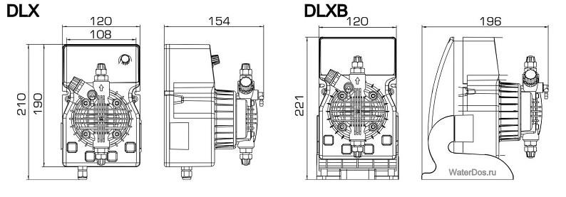 Внешние размеры насоса DLX