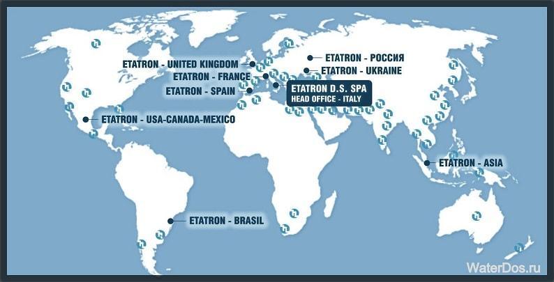Представительства компании Etatron